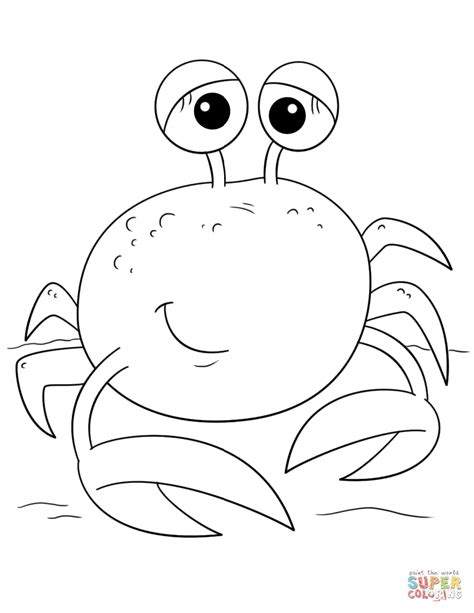cute crab coloring pages hermit crab clipart crab coloring pages with one big