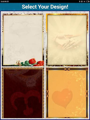 wedding invitation app for pc wedding invitation cards maker marriage card app
