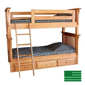 American Made Bunk Beds Amish Child S Pearce Bunk Bed In Solid Wood Usa Made Children S Furniture