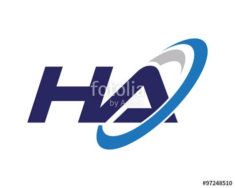 Auto Logo 5 Letters by Quot Ha Swoosh Letter Auto Logo Quot Stock Image And Royalty Free