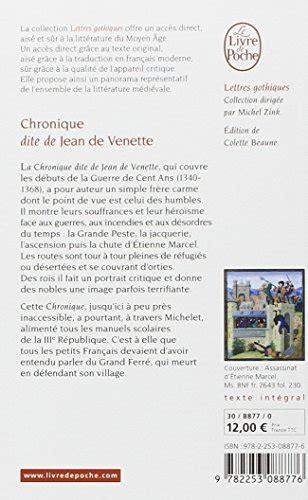 libro partition chronique de libro chronique dite de jean de venette di jean de venette