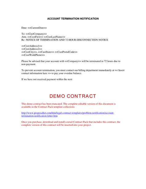 gas contract cancellation letter termination of contract letters for business the best