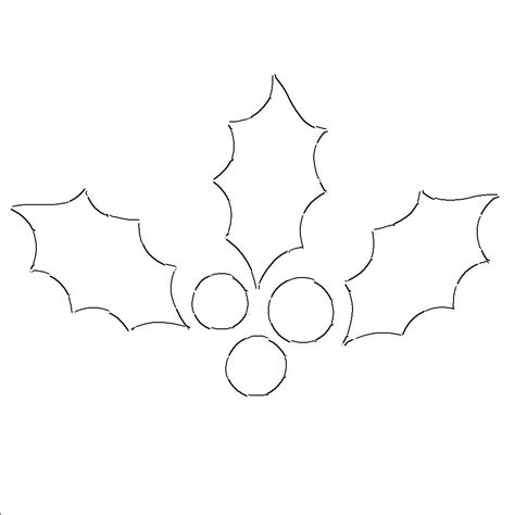 printable christmas holly holly leaf templates free printable patterns to cut out