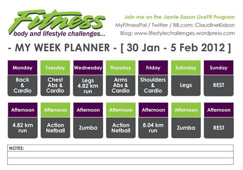 planning out the week fitness geekiness gym program lifestylechallenges