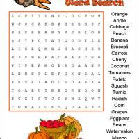 printable vegetable word search harvest fruit vegetables word search