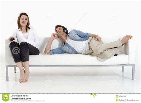 couch couple couple on the couch watching tv stock photo image 17993740