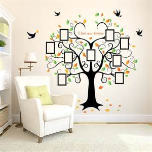 diy home family photo tree decal large wall sticker vinyl