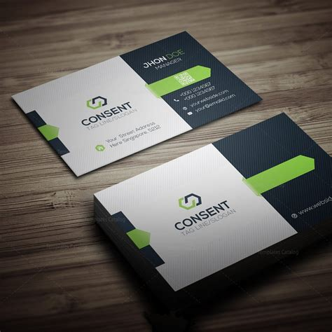 Business Card Template by Consent Business Card Template 000275 Template Catalog