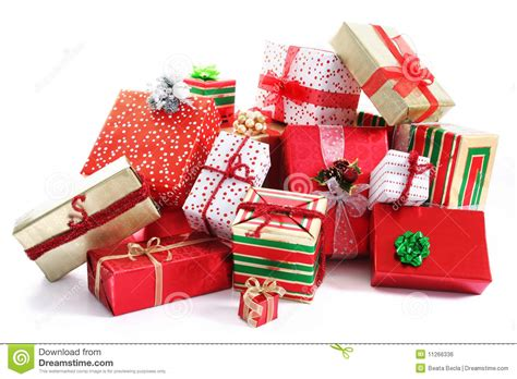 gift pile stock photo image of colorful holiday