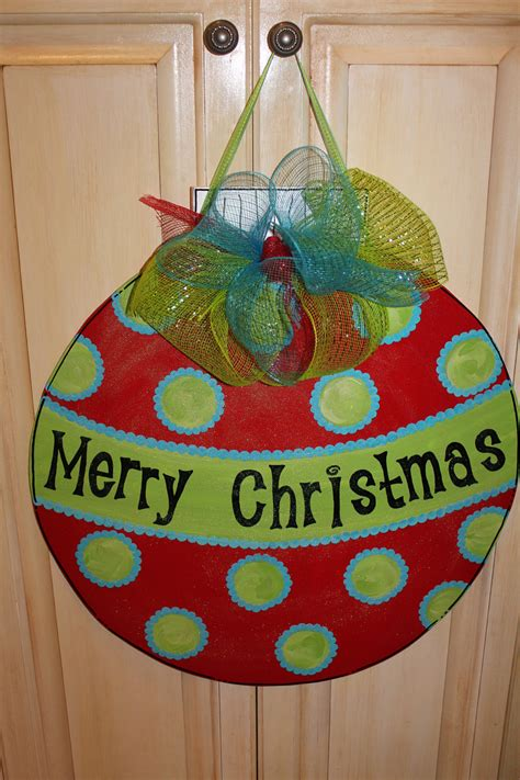 wood christmas ornament door hanger by asoutherncreation