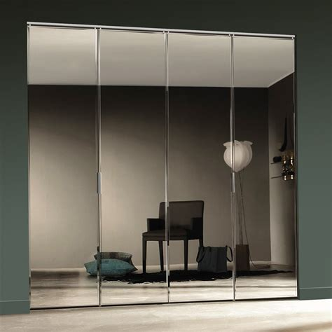 White Beveled Mirror Bifold Door Lowe S Canada Mirrored Bifold Closet Doors