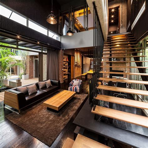 industrial home interior design industrial and modern side by side two houses in