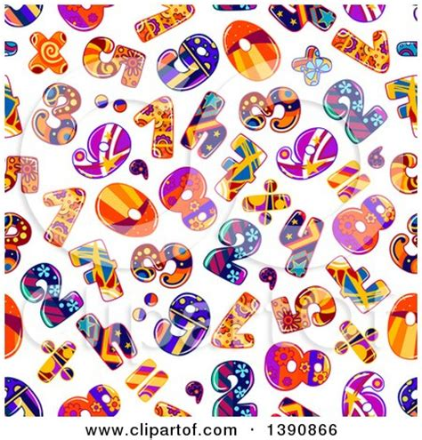 html pattern only digits clipart of colorful origami numbers royalty free vector