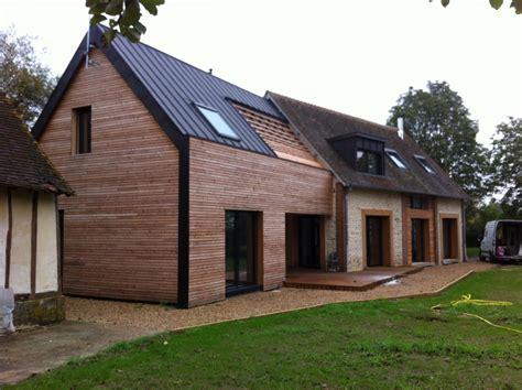 maison de en bois extension de maison en bois mpc construction maison en bois
