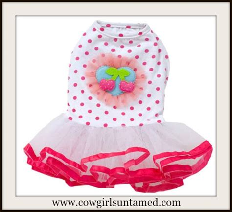 Pink Polka Does It Again Pet Pet Pet Product by Cherry N Polka Dot Tutu Doggie Dress Cherry Pink