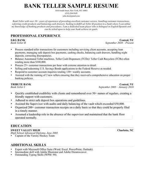 objective for resume banking position description for resume bank