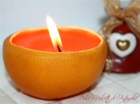 decorazioni candele fai da te candela arancio addobbi natalizi fai da te dolci e