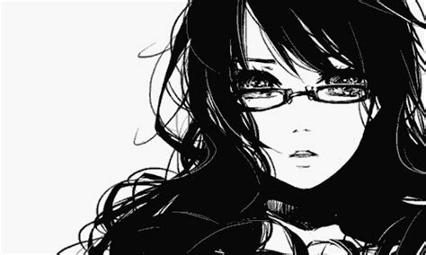 imagenes anime black and white black and white anime girls gif wifflegif