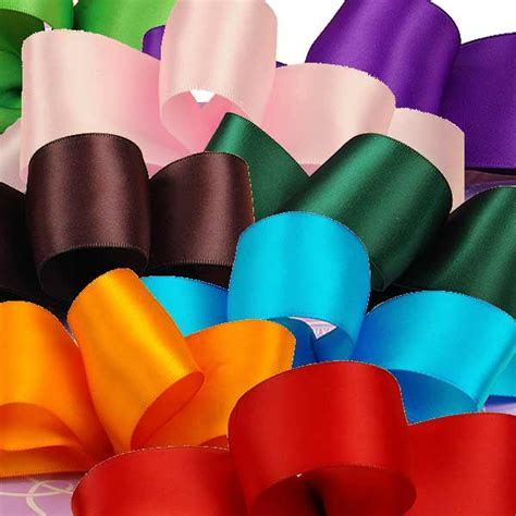 Top Silky Ribbon Side Import solid color premium fabric satin ribbon paper mart