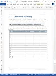 continuous monitoring plan template plan template instant