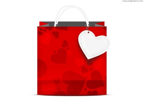 valentines day bags s day shopping bag psd psdgraphics