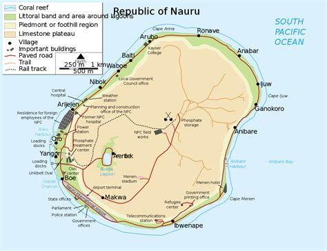 great world city map location geography of nauru