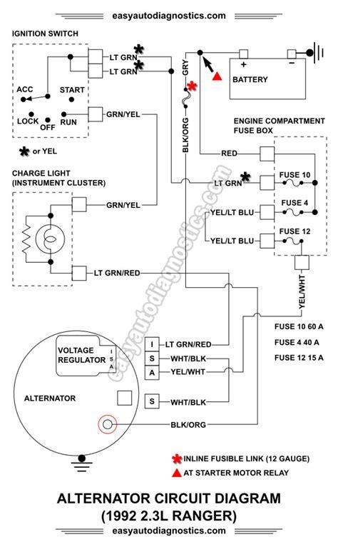 2 wire alternator wiring diagram alternator wiring diagram ford ranger wiring diagram