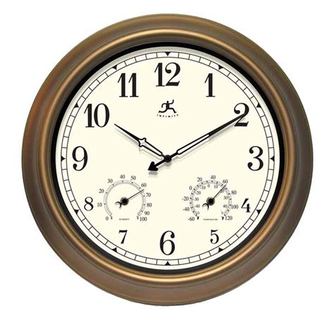 shop infinity instruments the craftsman analog round indoor outdoor wall standard clock at lowes com
