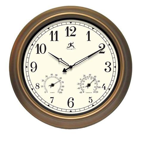 Shop Infinity Instruments The Craftsman Analog Round Garden Wall Clocks