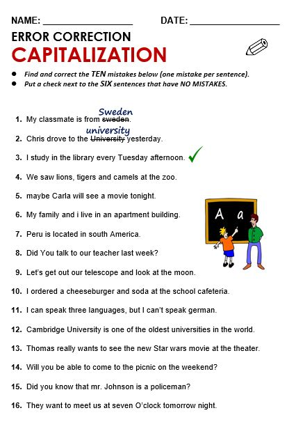 Capitalization Worksheets Pdf by Capitalization All Things Grammar