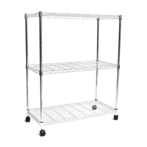 Home Depot Wire Shelf by Seville Classics 3 Shelf 30 In X 14 In Home Wire