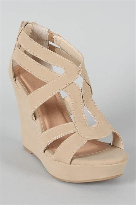 shoes wedges beige wheretoget