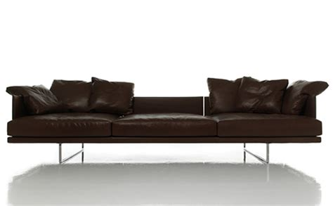 comfortable leather sofa new versatile sofa toot by cassina