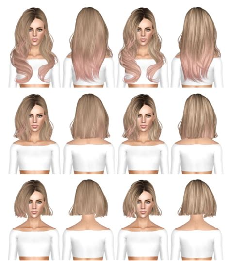 the sims 3 hairstyles and their expansion pack skysims 248 long medium and short hairstyle retextured by