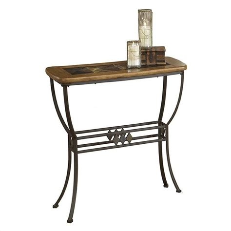 slate top sofa table lakeview slate top console sofa table in brown and medium