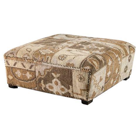 senura global lodge brown kilim patchwork ottoman kathy