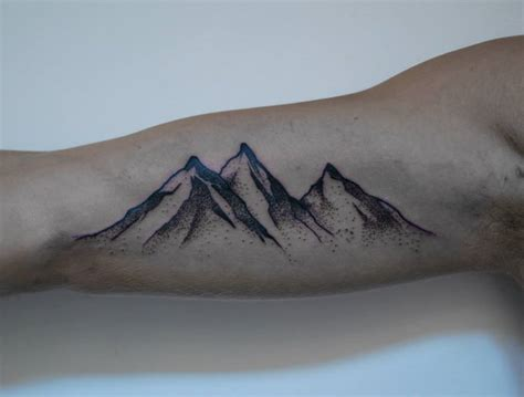 small mountain tattoo 16 amazing mountain tattoos on bicep