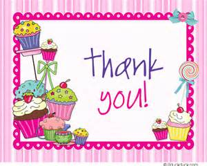 sweet stripes thank you card candy cupcakes note flat or
