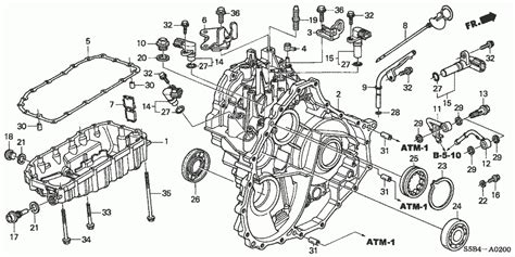 2003 honda civic parts diagram at transmission pan honda oem parts 2003