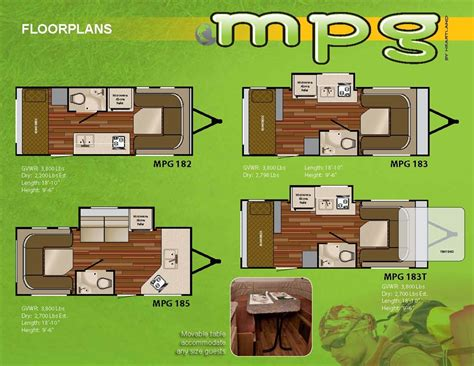 mpg travel trailer floor plans new floorplans for the mpg r pod nation forum