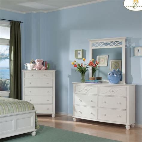 sanibel bedroom furniture dreamfurniture 2119tw sanibel bedroom set white