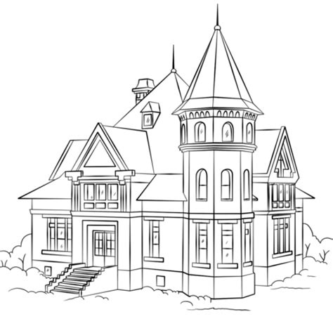 coloring pictures of a house house coloring page free printable coloring pages