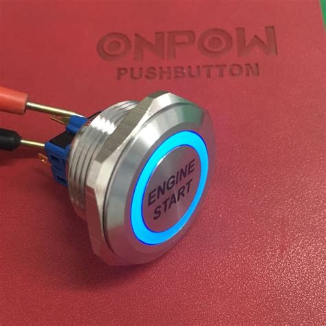 Ring Engine Start Glow In The onpow 30mm 1no1nc stainless steel momentary ring illuminated led with engine start symbol push