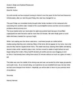 Complaint Letter For Bad Service At Restaurant Customer Complaint Letter 9 Free Word Pdf Documents