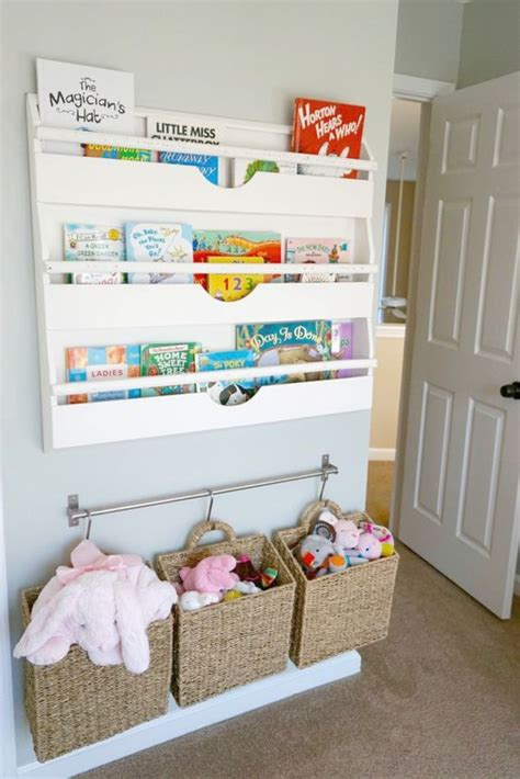 bookshelves for baby room 25 space saving kids rooms wall storage ideas shelterness