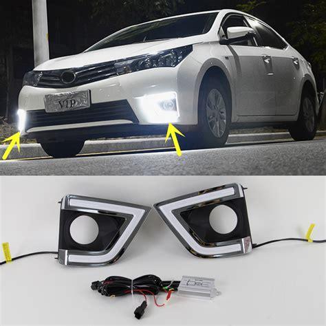 2015 toyota light 1 pair white led daytime fog light drl light for toyota