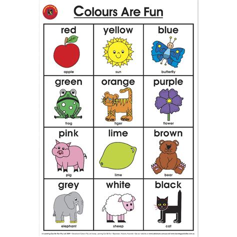 toddler color chart color chart for toddlers hunt hankk co