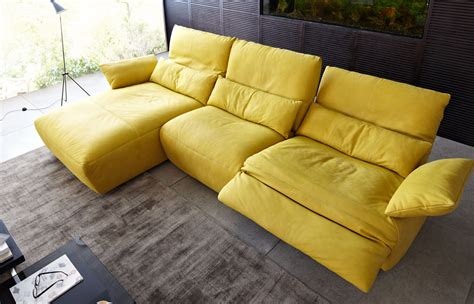 j shaped couch koinor sofas easy j shaped yellow leather sofas