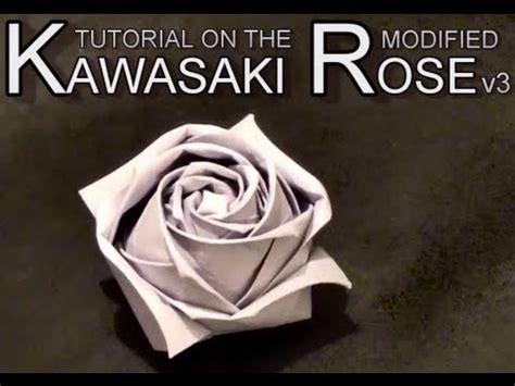 How To Make An Origami Kawasaki - conrad s modified kawasaki origami paper tutorial