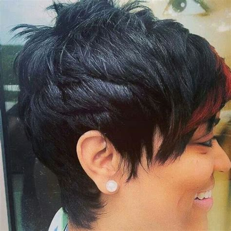 black hair stylist in austin that does cute updo hairstyles pop of color like the river salon is talented short